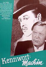 Original ~ Paul Dahlke ~ Film Plakat UfA 1939/40 Poster ~ Kennwort Machin ~