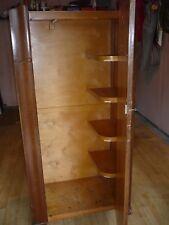 wooden wardrobe, dark varnished.