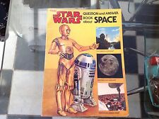 VINTAGE ORIGINAL THE STAR WARS QUESTION AND ANSWER BOOK ABOUT SPACE 1979 R2 C3PO