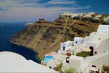 571009 Looking Towards Firostephani From Fira Santorini Greece A4 Photo Print