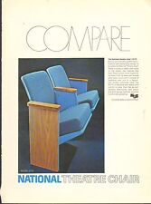 VINTAGE MAGAZINE AD #00530 - 1972 NATIONAL MOVIE THEATER CHAIR