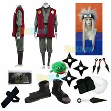 Brand New Naruto Jiraiya Cosplay Costume wig props halloween set Top Underwear