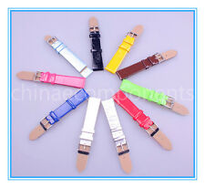 10pcs 18mm leather Imitation Watch Bands 10 colors available