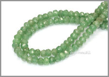 Green Aventurine Faceted Rondelle Beads 6mm #78140