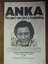 1974 Paul Anka Record,Album Trade Promo Photo Print Ad