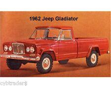 1962 Jeep Gladiator  Refrigerator / Tool Box  Magnet Gift Card Insert