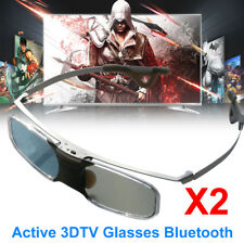 2X Active Shutter 3D Glasses Bluetooth For Samsung LG 3D TVs And Epson Projector