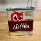 Vintage 1948 Red Owl Minneapolis Spice Tin Whole Allspice 1 oz Tin Can Full