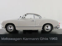 DeAGOSTINI #04 VW Karmann Ghia Coupé (1962) in weiß 1:43 NEU/PC-Vitrine