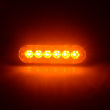 6 LED 18W Amber Car Emergency Warning Strobe Beacon Flashing Caution Light