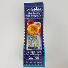 Wonder Water Clear Reusable Floral Arranging Gel 7 Oz Ounces, New, Free Shipping