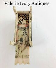 New listing Napoleonic Bone Prisoner of War Scrimshaw Domino Box with Dominoes
