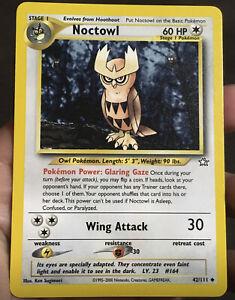 Pokemon Card From 1st Neo Set Noctowl  42/111 Neo Genesis LP
