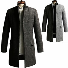 New Fashion Trendy Mens Wool Tweed Coat Jacket Jumper Blazer Outwear Top B067