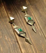Boucles d`Oreilles Clous Art Deco Jade Vert PRICE CHOC PROMOTION AVRIL MAI BB 1