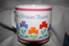 """Estate Special Mug """"A Sister is a Forever Friend"""" with Flowoers All Around LOOK"""
