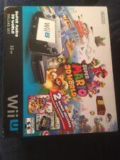 Nintendo Wii U Super Mario 3D World Deluxe Set 32GB Black Console Brand New