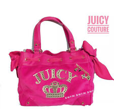 Nwt Authentic juicy couture hot pink velour daydreamer tote bag Black Lable