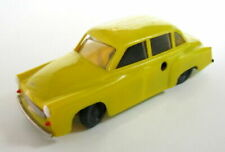 VINTAGE PLASTIC YELLOW WIND UP TOY CAR WARTBURG WORKING GERMANY? SEE! >>