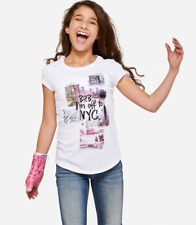 Justice Girl's 'BRB I'm off to NYC' Glitter Graphic Tee Size 16 New with Tags