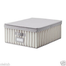 IKEA Svira Box With Lid Gray Storage Organization Closet Home Office 303.002.95