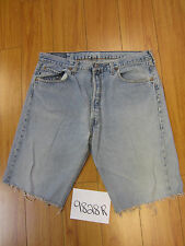"""Levi used 501 high waisted cut off shorts USATag 38"""" Meas 35"""" Inseam 12"""" 9828R"""