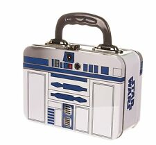 Star Wars-R2-D2 Tin Tote niños Caja de almuerzo