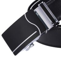 QHA Mens Automatic Ratchet Belts For Men Luxury Fashion Waist Casual Buckle Gift