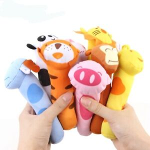 Soft Plush Baby Toy Animal Hand Bells Baby Rattle Toys New Gift Animal Style