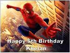 "Spiderman Personalizado Cake Topper Comestibles De Oblea De Papel 7.5 ""por 10 ¨ A4"