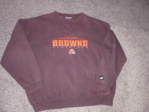 Vintage 90s CLEVELAND BROWNS sewn embroidered Puma Sweatshirt men's 2XL
