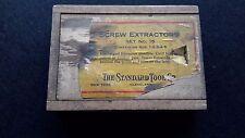 Vintage Screw Extractor set in original wooden box