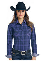 Panhandle Slim Women's Plum Plaid Aztec Pocket Snap Up Shirt R4S7615  SALE!!!