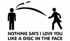 Disc Golf Vinyl Sticker Decal Disc In The Face