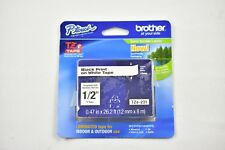 """Brother P-Touch TZe-231 Extra-Strength Adhesive Labeling Tape 1/2"""" Black on Whit"""