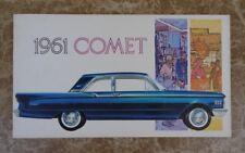 1961 Mercury COMET Automobile Sales Catalog Brochure - ORIGINAL New Old Stock