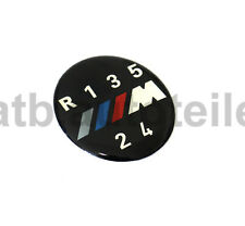 Schaltknauf Schaltknopf Abdeckung Emblem BMW M 1er 3er 5er 6er X3 X5 5-Gang