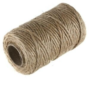 100% Natural Jute String Brown Shabby Rustic Twine Thick String Shank Craft 3PLY