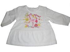 NEU Ergee niedliches Langarm Shirt Gr. 62 weiß mit Flamingo Motiv !!