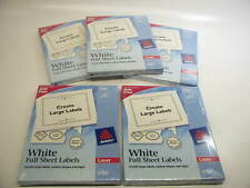 500 Sheets Avery 5165 Permanent Full Sheet Labels Laser 8 12 X 11 White
