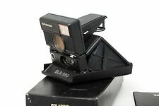 ☆NEAR MINT☆ Polaroid SLR 680 Sonar black in original box. Tested and working!