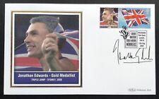 Olympic Gold Medal Winners Benham Postal Cover Signed Jonathan Edwards Sydney