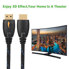 30 FT High Speed GOLD HDMI Cable V1.4 w/Nylon net Ferrite cores 1080p 3D / 30Ft
