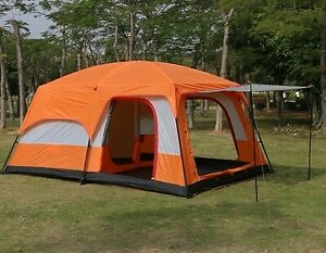 5-8 Person Outdoor Family Camping Tent Rainproof Hiking Poratble Large Canopy