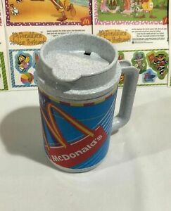 VINTAGE MCDONALDS WHIRLEY TRAVEL COFFEE MUG PLASTIC CUP THERMO CUP NEW