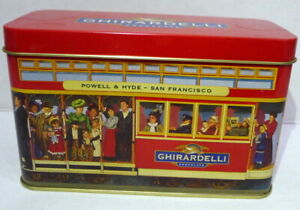 Ghirardelli & Co Street Car Empty Tin Powell & Hyde San Francisco Cable Car