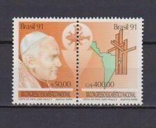 s19266) BRASILE BRAZIL 1991 MNH** Nuovo** Popes visit 2v