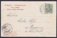 DR Mi Nr. 70 EF auf AK Bad Harzburg mit BP Bahnpost Braunschweig - Harzburg 1904