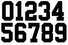 Vinyl 1980's 90's Football Shirt Soccer Numbers Heat Print Football Vintage A
