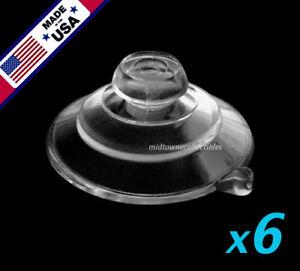"(6) 1-1/4"" USA FINEST Small Ultra-Duty Mushroom Head Suction Cups 1 LB HOLD"
